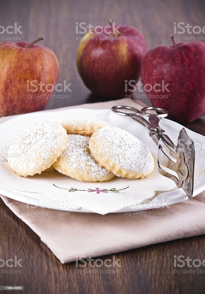 Apple filled cookies. royalty-free stock photo