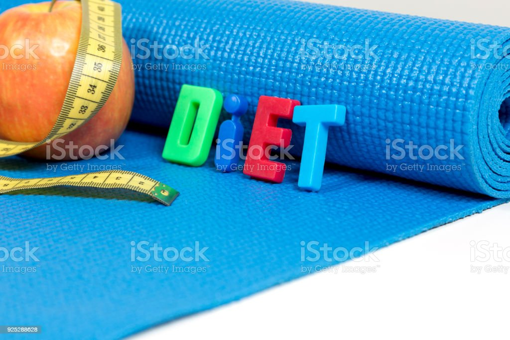 Apple for diet, Fitness, healthy and active lifestyles Concept