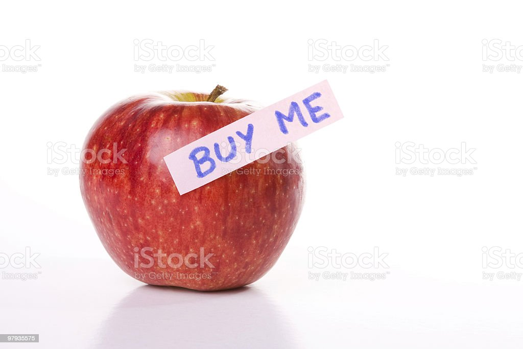 Apple for sale royalty-free stock photo