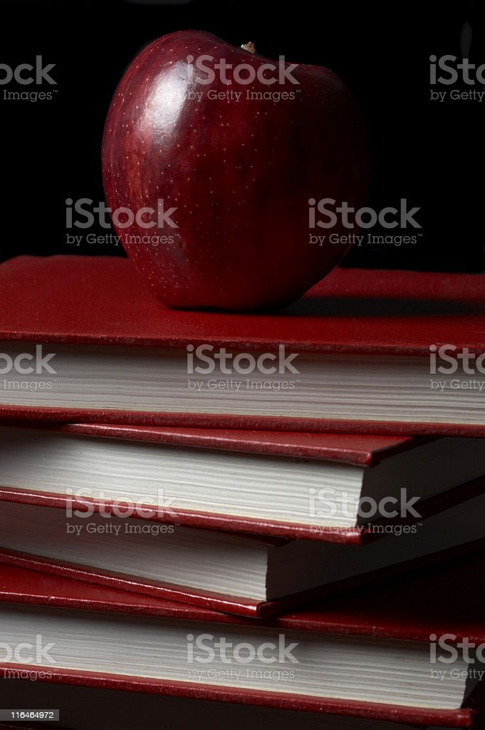 Apple for teacher royalty-free stock photo