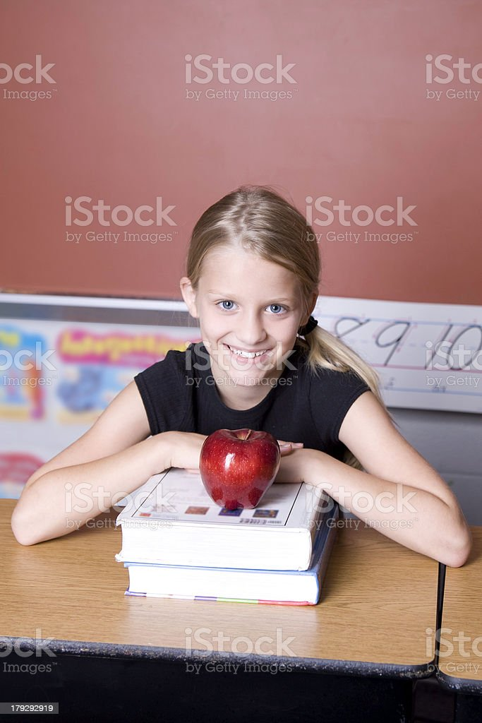 Apple for the Teacher 2 royalty-free stock photo