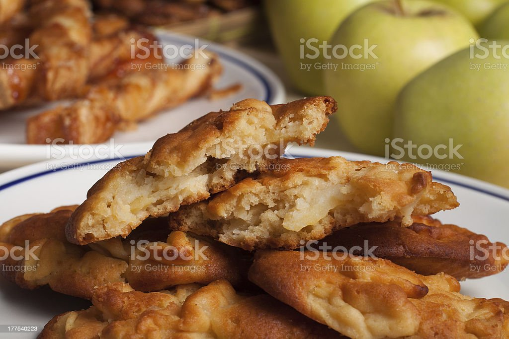 apple fritters stock photo