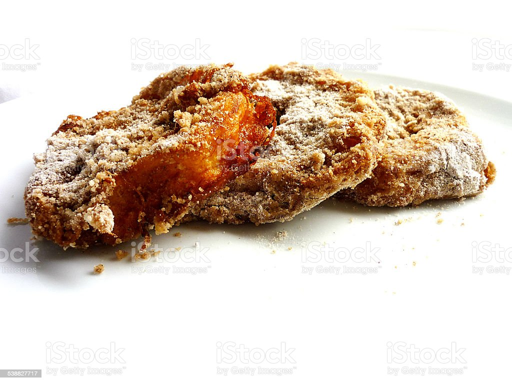Apple fritters with cinnamon sugar stock photo