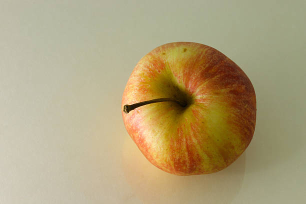 Apple from top view stock photo