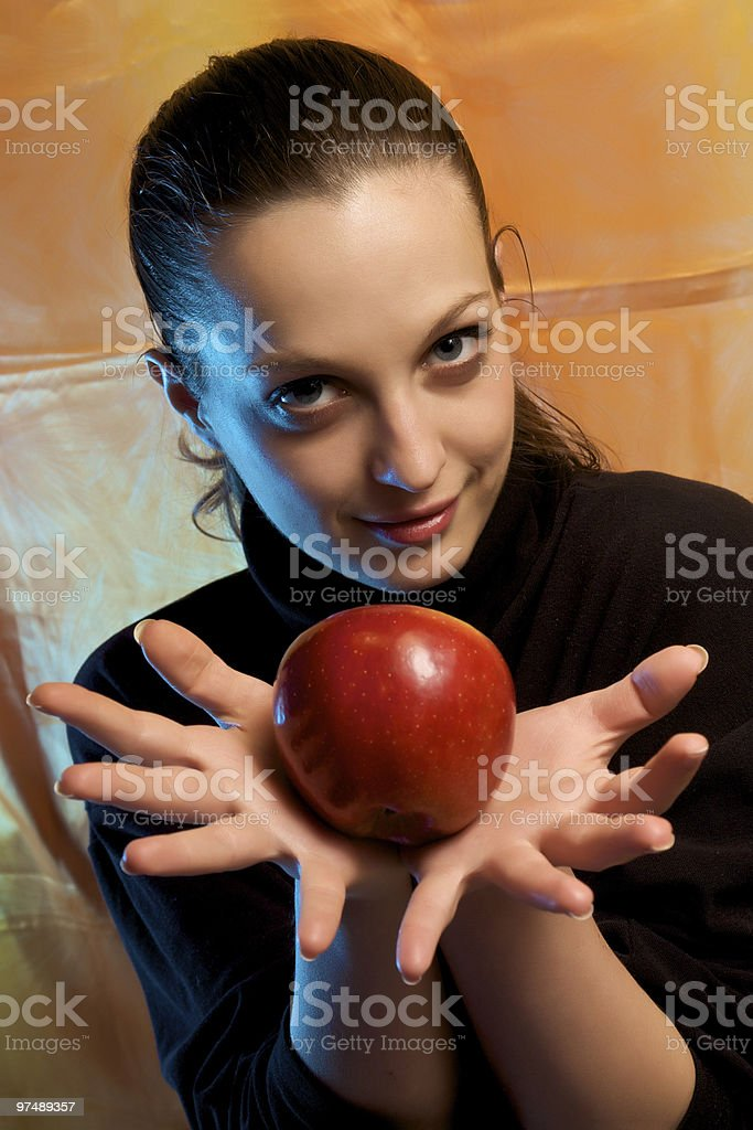 Apple girl royalty-free stock photo
