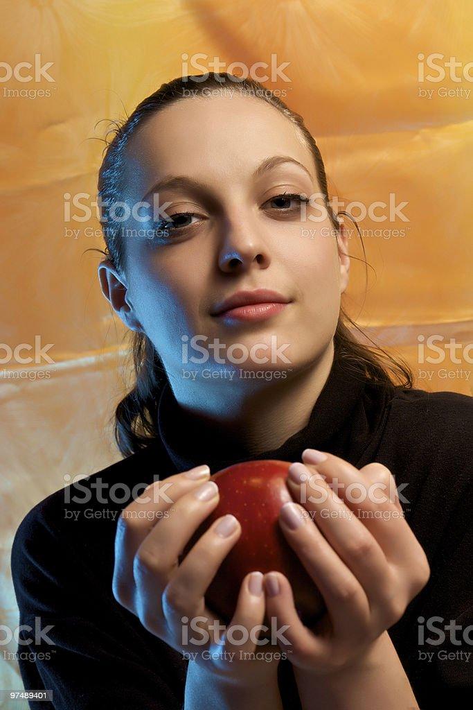 Apple girl royalty-free stock photo