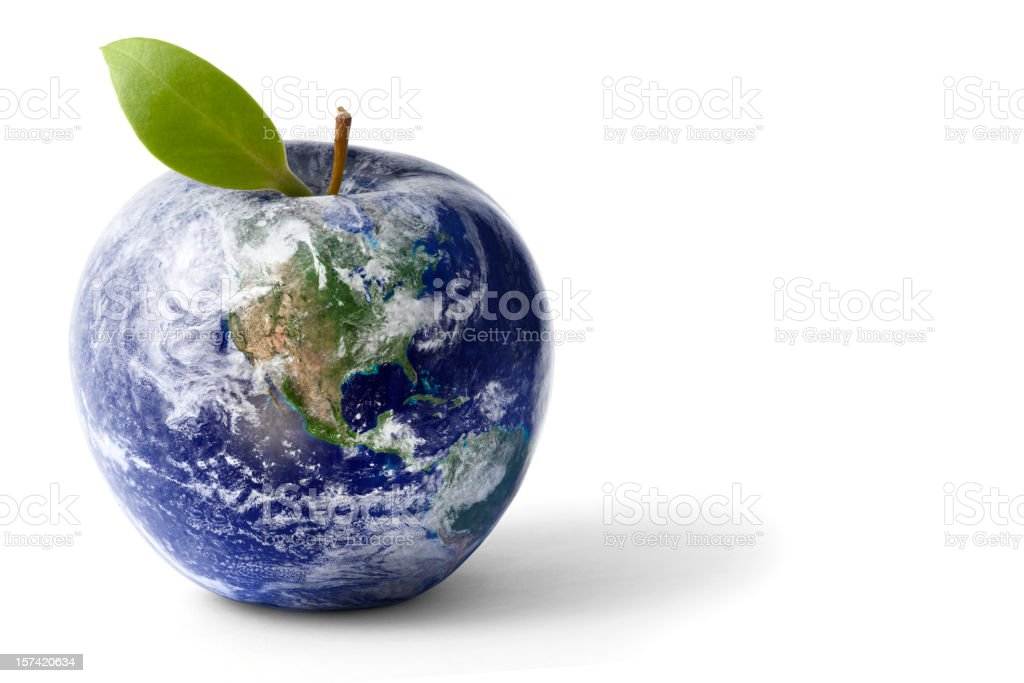 Apple Globe stock photo