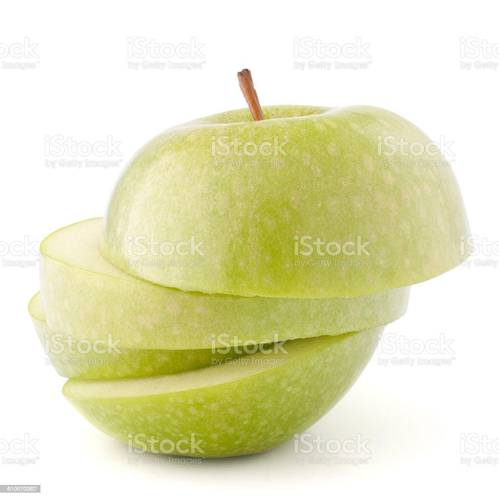 apple green sliced stock photo