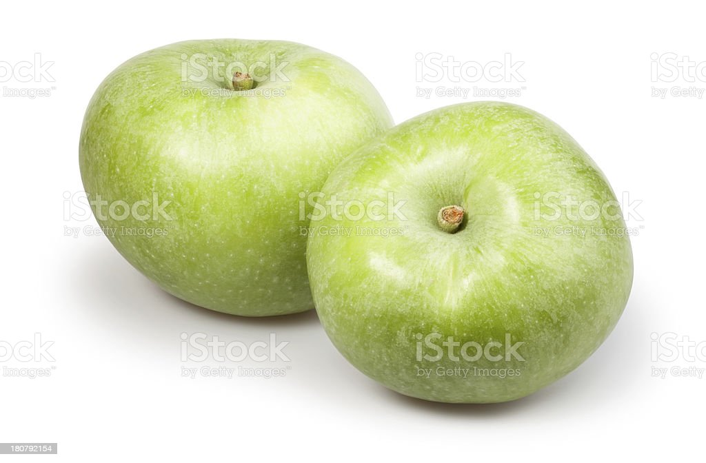 apple green two royalty-free stock photo