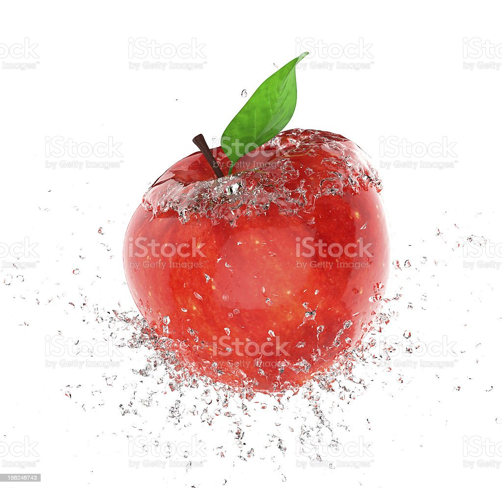 apple ice royalty-free stock photo