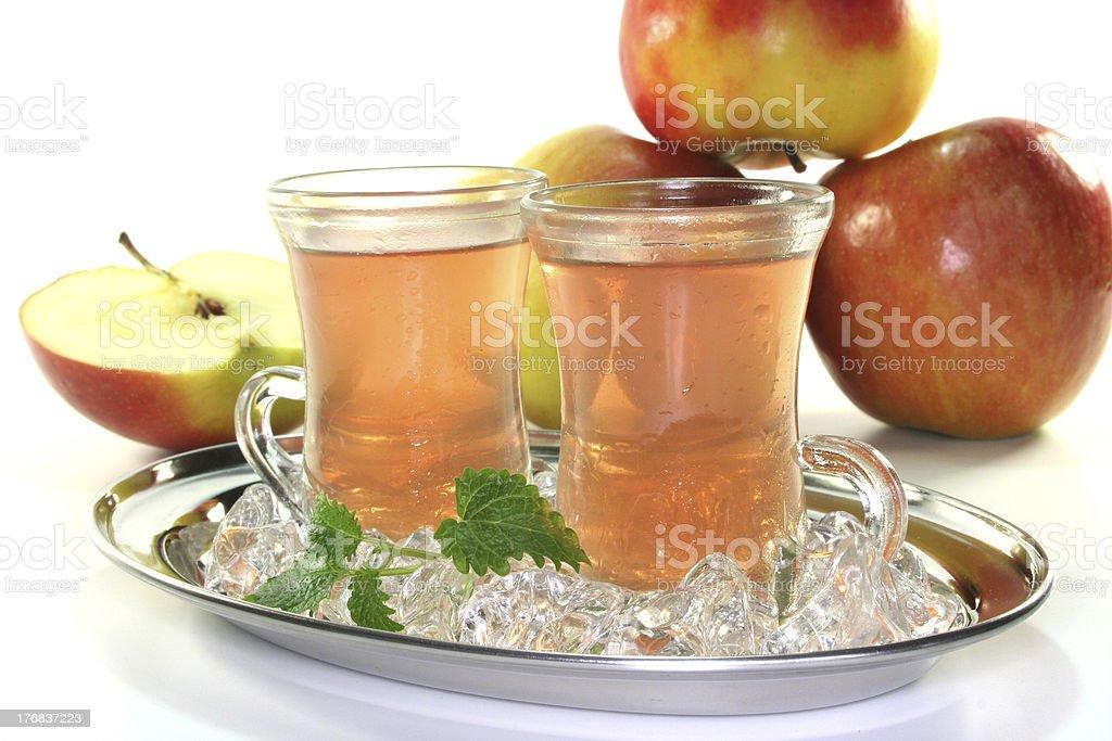 Apple iced tea stock photo