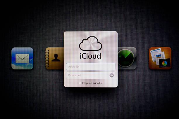 apple icloud página da web - icloud apple - fotografias e filmes do acervo