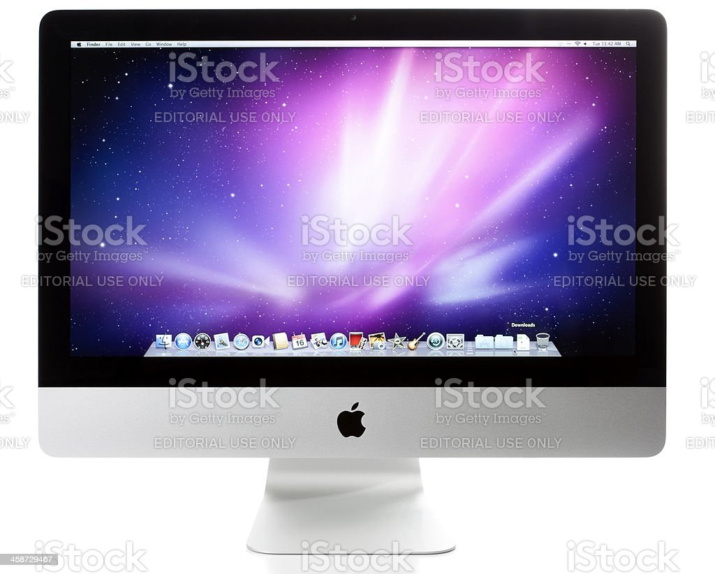 Apple iMac 21.5 Inch Computer with clipping paths royalty-free stock photo