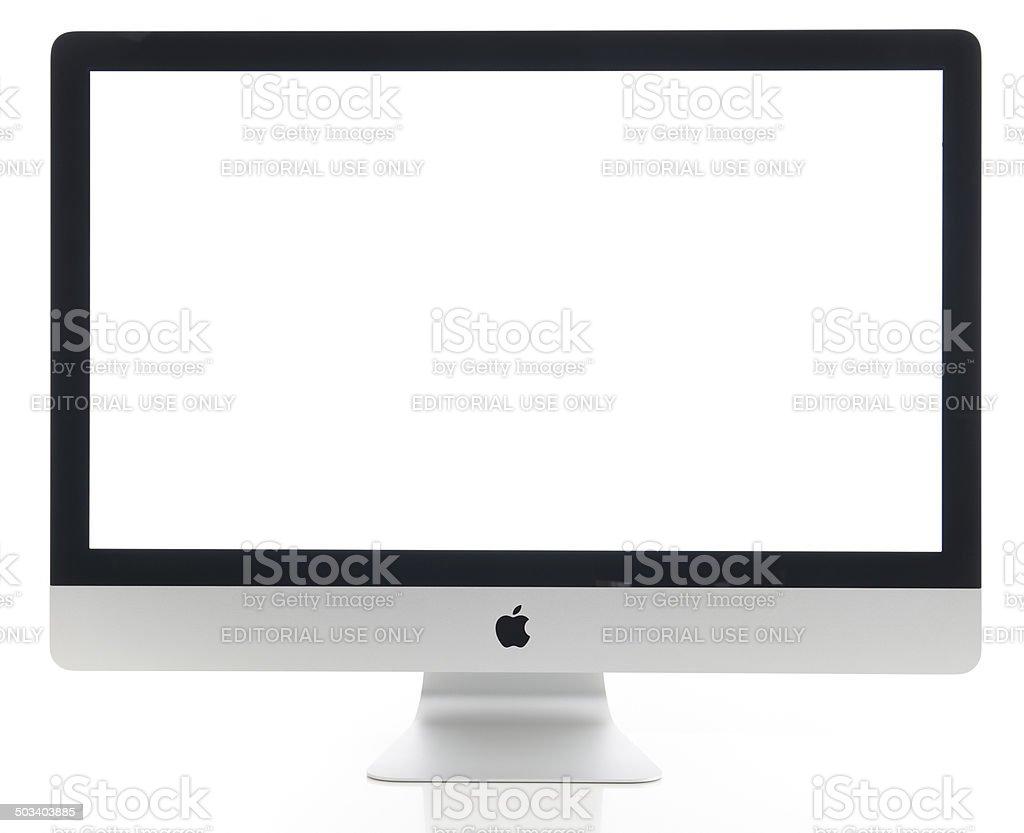Apple iMac 27 inch desktop computer stock photo