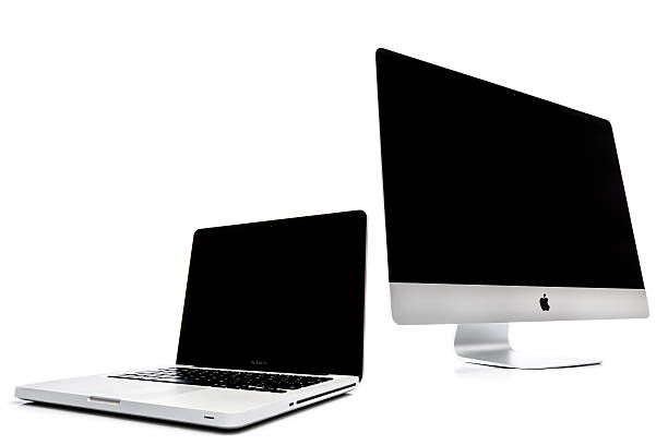 Apple iMac y Macbook Pro - foto de stock