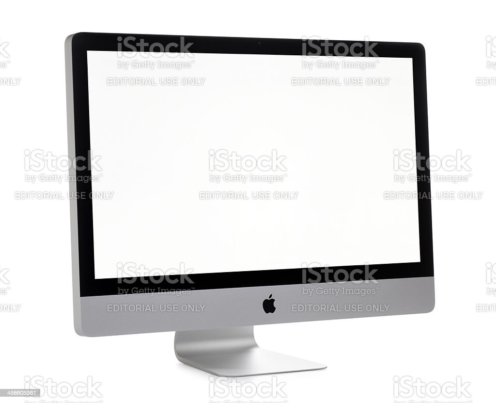 Apple iMac Computer on White stock photo