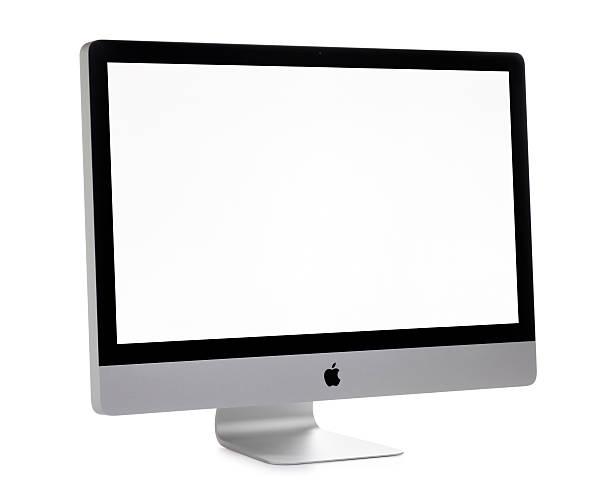 Apple iMac Computer on White stock photo
