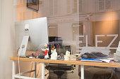 istock Apple Imac on table emty office workplace 1174256615