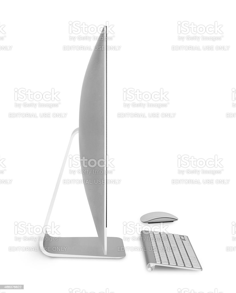Apple Imac - side view stock photo
