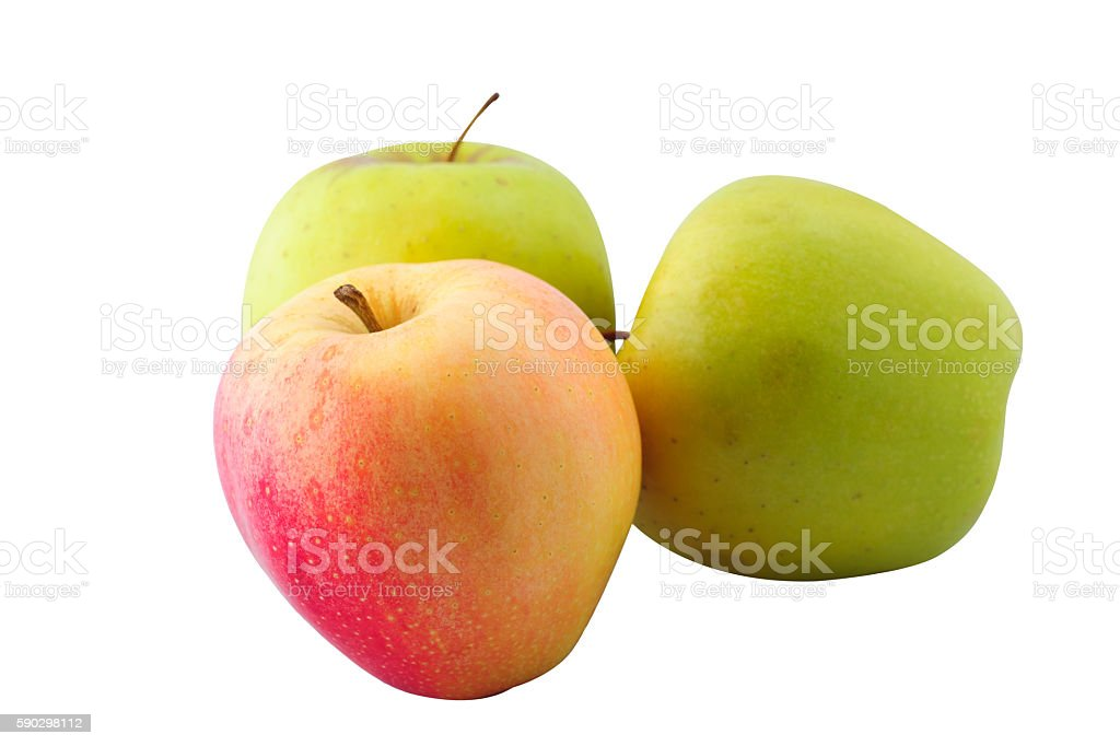 Apple in a pure white background royaltyfri bildbanksbilder