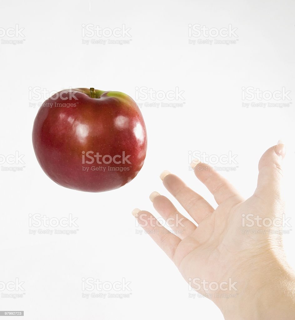 Apple in Hand royalty free stockfoto