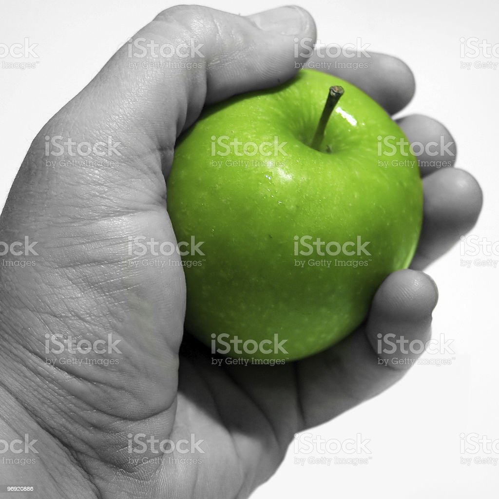 Apple in the Hand royalty-free stock photo