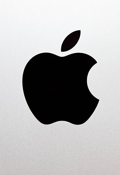 apple inc logo - logo stock photos and pictures