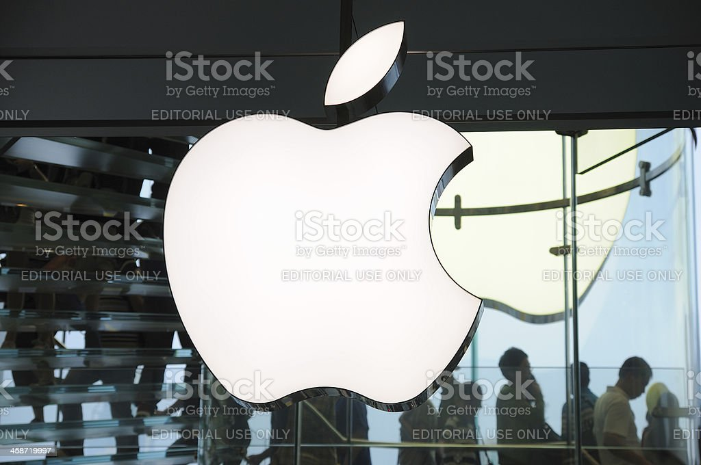 Apple Inc logo stock photo