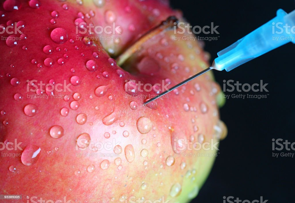 Apple injection royalty-free stock photo