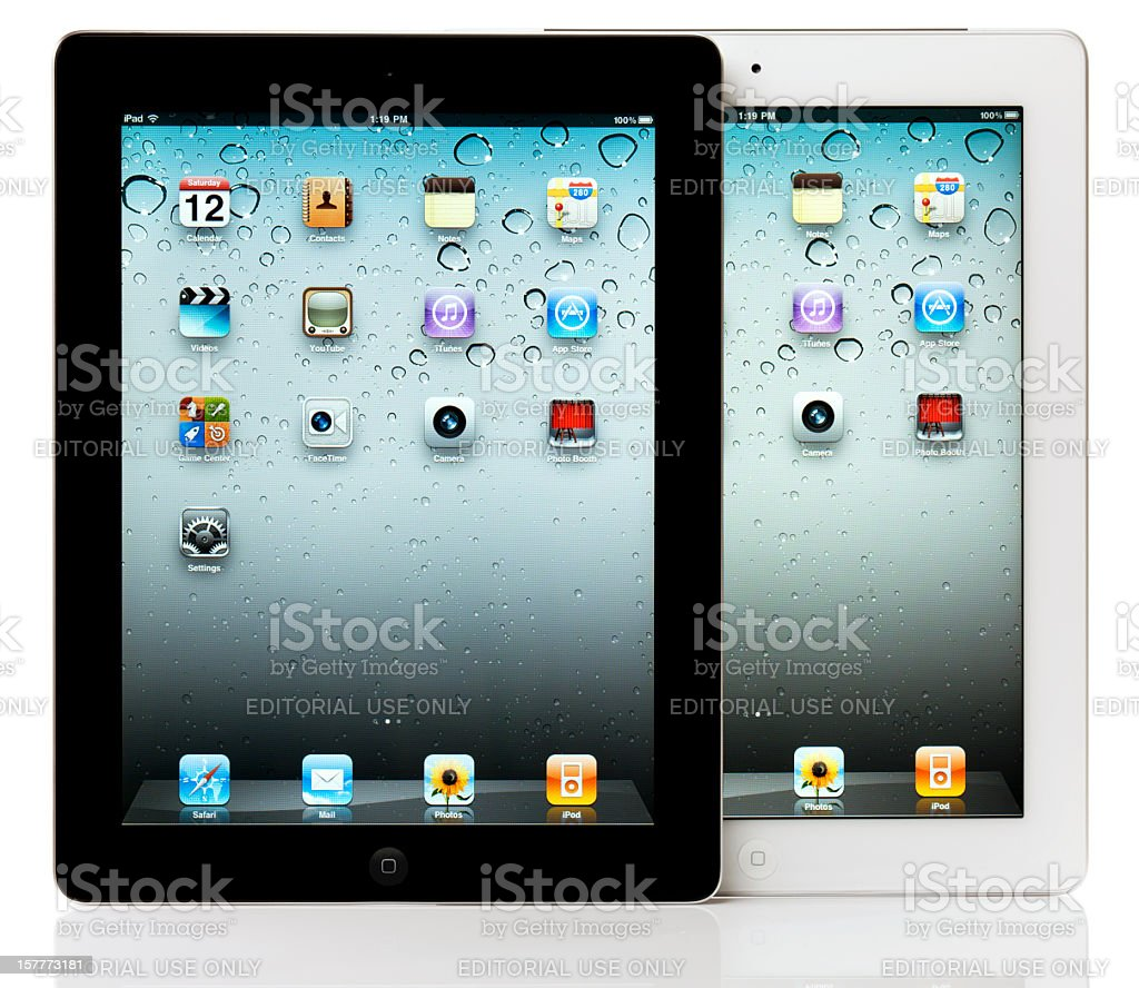 Apple iPad 2 Black and White royalty-free stock photo