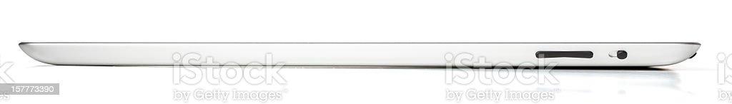 Apple iPad 2 Wi-Fi + 3G Side View royalty-free stock photo