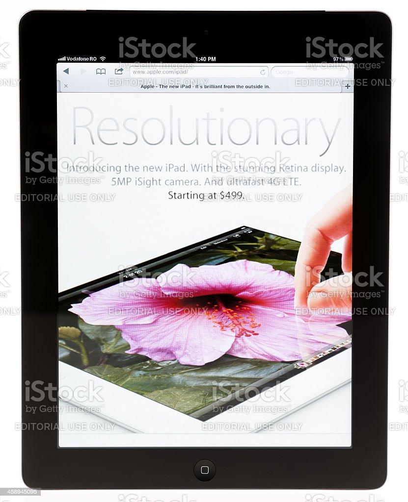 Apple iPad 3 on iPad2 Screen royalty-free stock photo