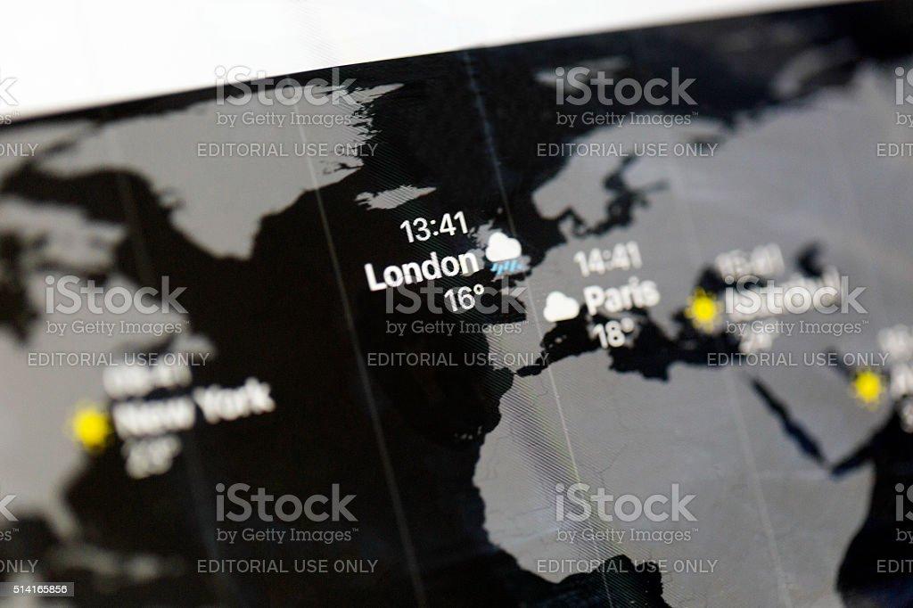 Apple ipad air world clock map app focus on london stock photo istock apple ipad air world clock map app focus on london royalty free stock photo gumiabroncs Choice Image