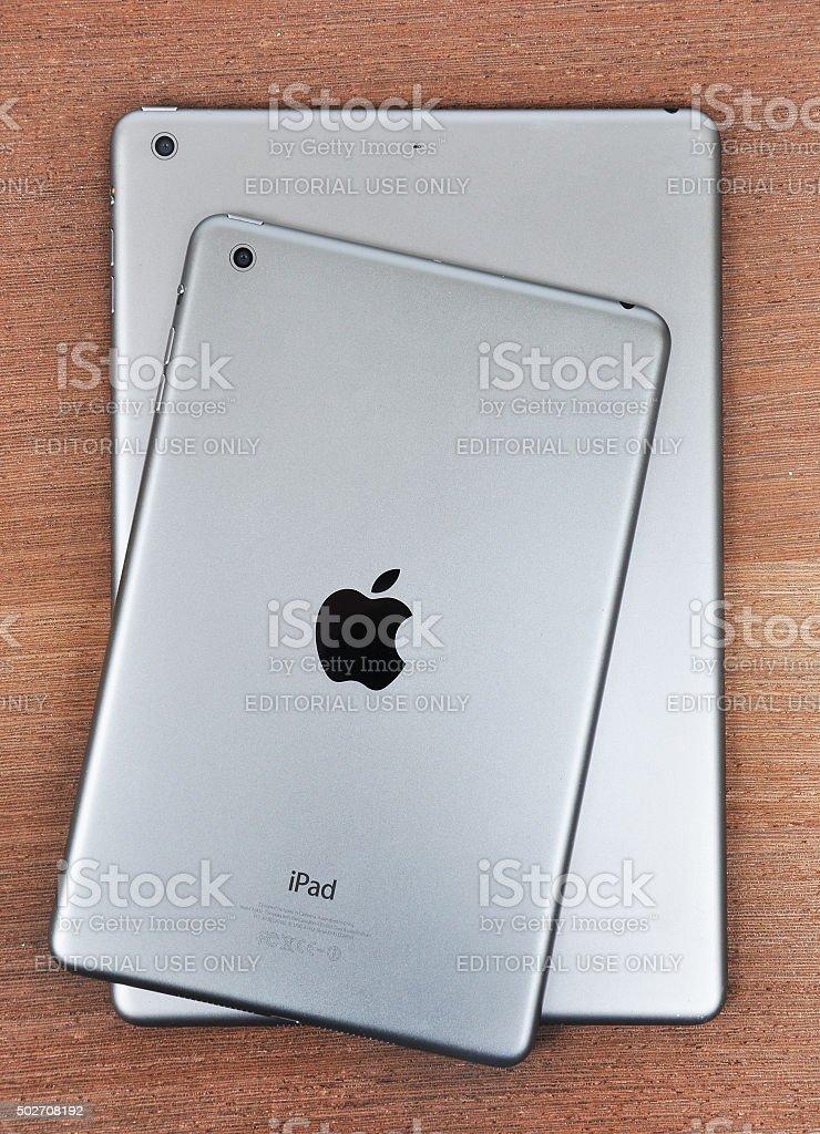 Apple iPad Mini in comparison with Apple iPad 4 stock photo