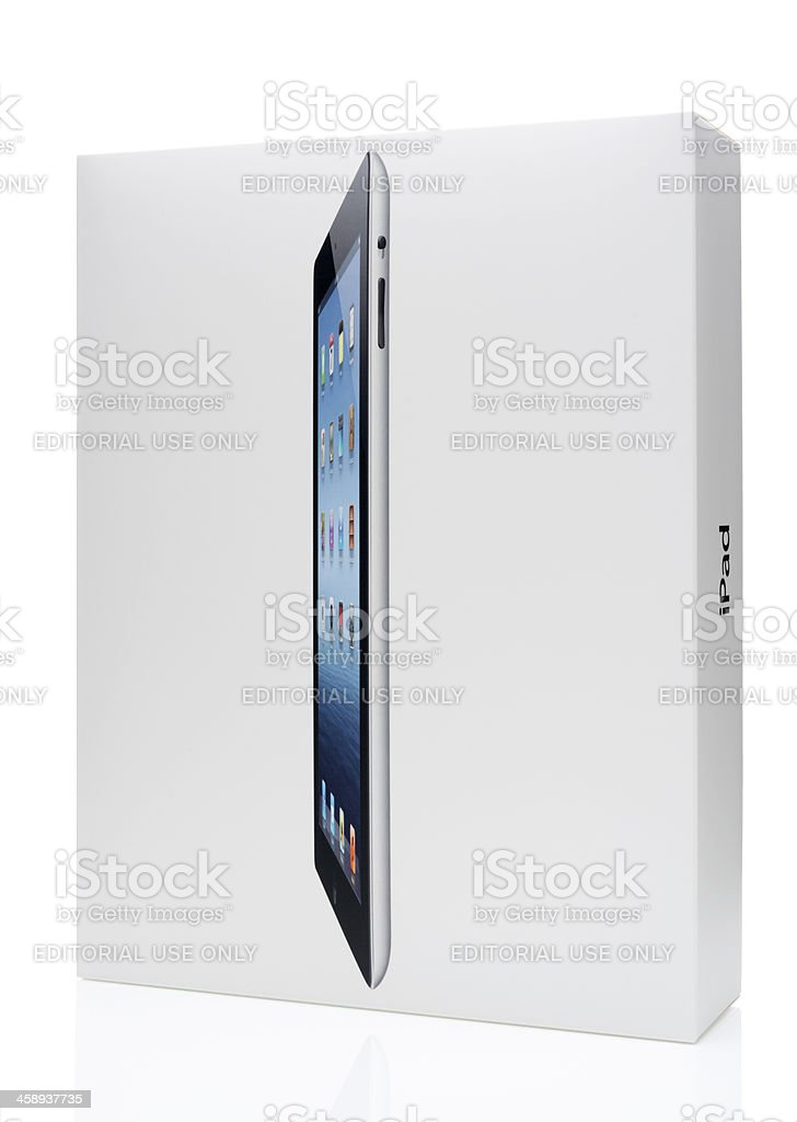Apple iPad Packaging Box royalty-free stock photo