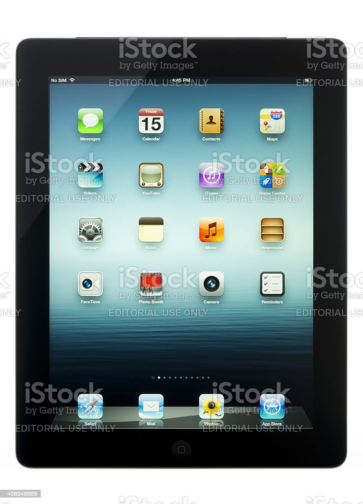 Apple iPad Wi-Fi + Cellular royalty-free stock photo