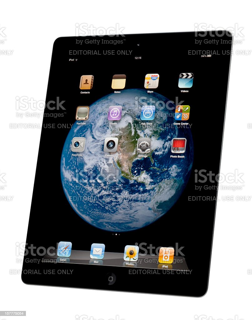 Apple iPad with Clipping Path royalty-free stock photo