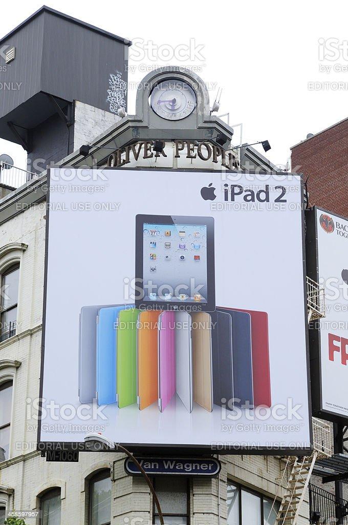 Apple iPad2 Billboard,NYC. royalty-free stock photo