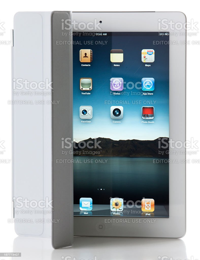 Apple iPad2 Wi-Fi + 3G with Smart Cover royalty-free stock photo