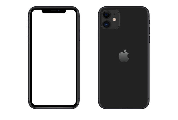 Apple iPhone 11 Black smartphone stock photo