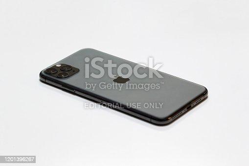 892510910 istock photo Apple iPhone 11 Pro Max isolated on white background 1201396267