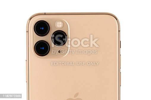 istock Apple iPhone 11 Pro on a white background. 1182972355