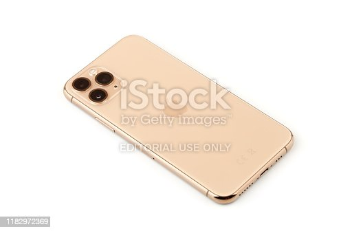 istock Apple iPhone 11 Pro on a white background. 1182972369