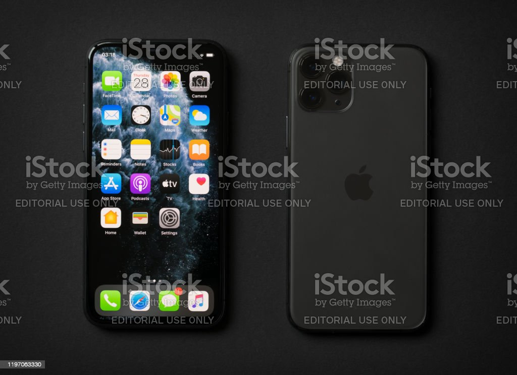 Apple Iphone 11 Pro On Dark Background Stock Photo Download Image Now Istock
