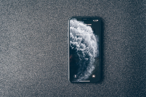 Apple Iphone 11 Pro On Luxury Dark Background Stock Photo Download Image Now Istock