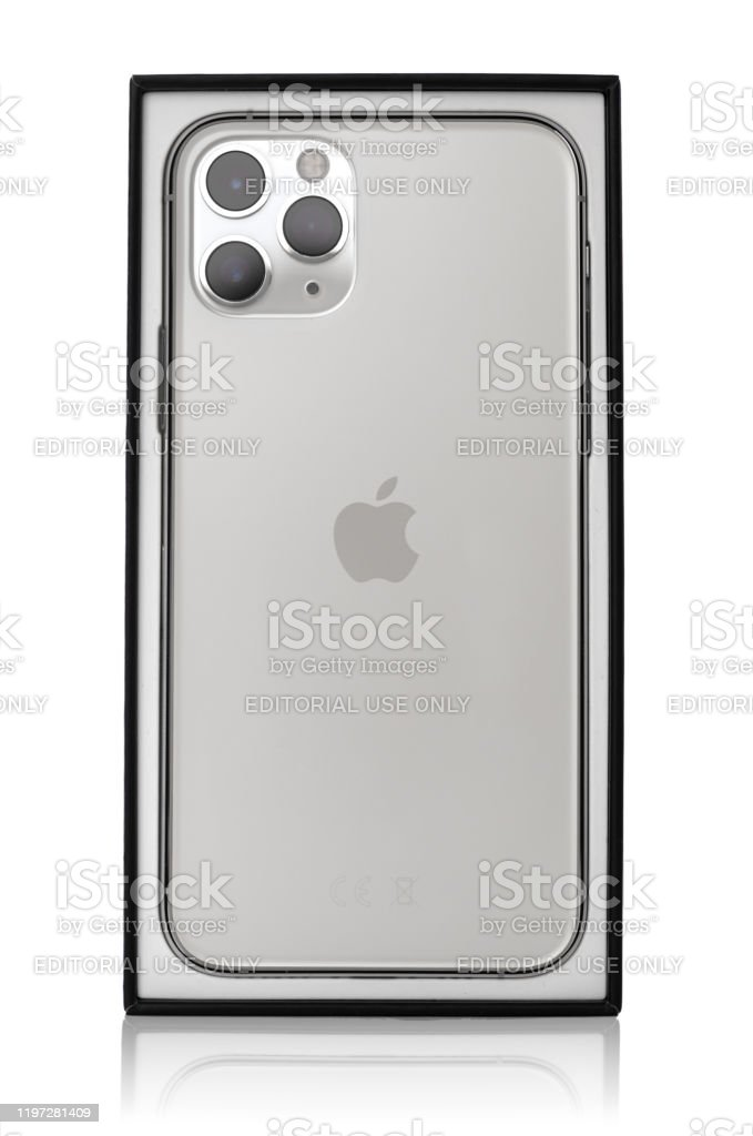 Apple Iphone 11 Pro Silver Color On A White Background Stock Photo Download Image Now Istock