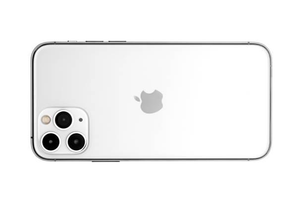 Apple iPhone 11pro Silber weiß Leerbildschirm und Rückansicht – Foto