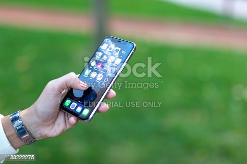 istock Apple iPhone 11pro Silver White 1188222275