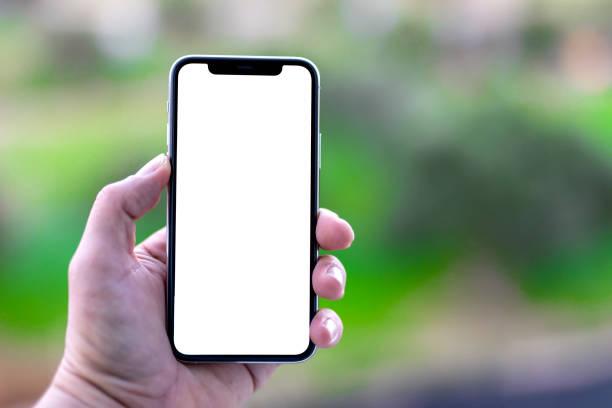 Apple iPhone 11pro Silber weiß Weiß Bildschirm – Foto