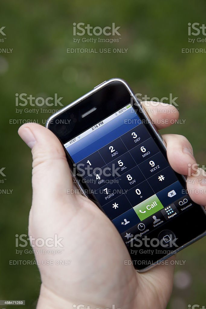 Apple IPhone 3GS royalty-free stock photo